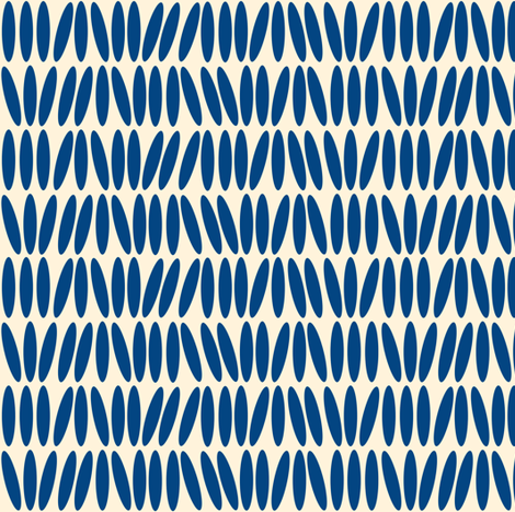 Kenya Stack - Blue and Creme fabric by sheila_marie_delgado on Spoonflower - custom fabric