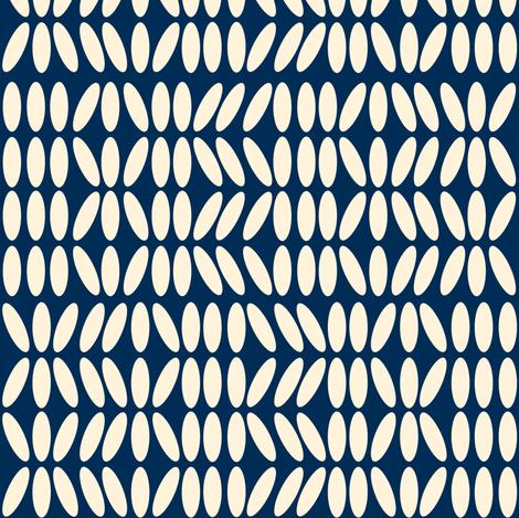 Kenya Blue and Creme fabric by sheila's_corner on Spoonflower - custom fabric