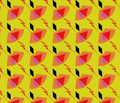 Salsa fabric by knita on Spoonflower - custom fabric