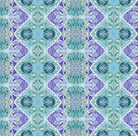 Seed Pod Seranade (a zig zag vertical stripe) fabric by edsel2084 on Spoonflower - custom fabric