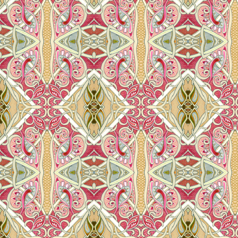 A Feminine Paisley Picnic with Corn on the Cob fabric by edsel2084 on Spoonflower - custom fabric