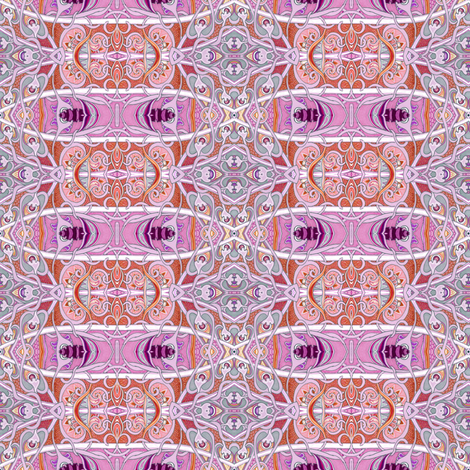 Thai One On (delicate and feminine mutant Eastern feeling plaid)  fabric by edsel2084 on Spoonflower - custom fabric