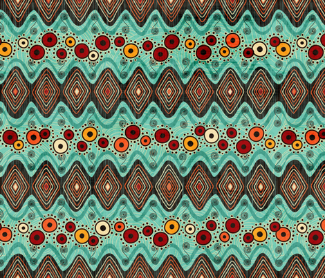 Ghana Blooms fabric by jennartdesigns on Spoonflower - custom fabric