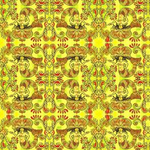 Grand Mermaids-red/green/yellow