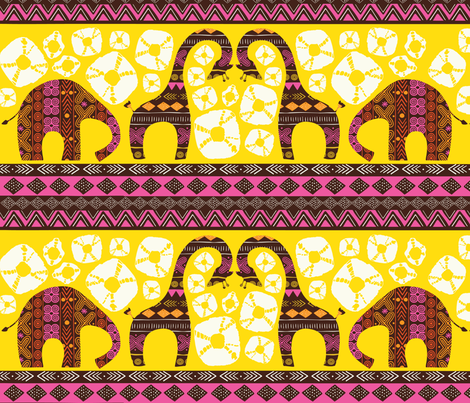 African Animal Sunrise fabric by sara_berrenson on Spoonflower - custom fabric