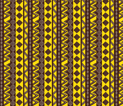 Sunshine Mudcloth fabric by sara_berrenson on Spoonflower - custom fabric