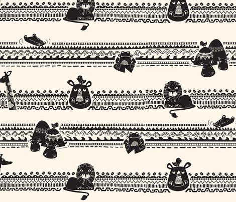 african_animals fabric by elinvanegmond on Spoonflower - custom fabric