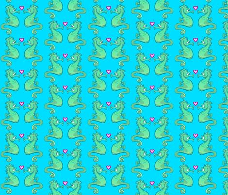 Seahorse fabric by jadegordon on Spoonflower - custom fabric
