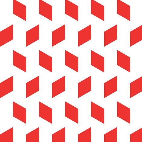 rhombus bomb in carnelian fabric by chantae on Spoonflower - custom fabric