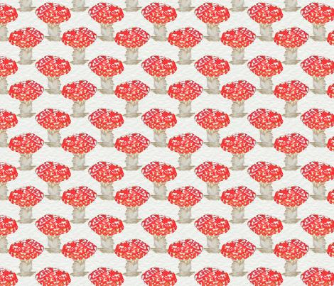 Mushrooms in Red fabric by jenniferpitchers on Spoonflower - custom fabric
