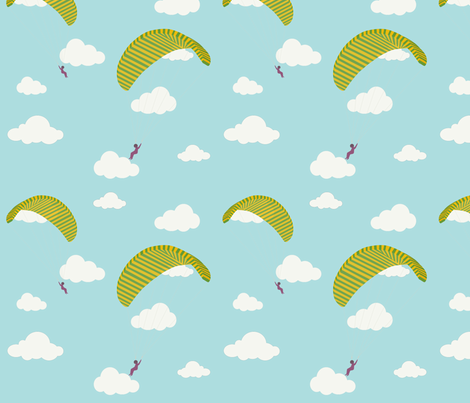 Paragliding fabric by cine on Spoonflower - custom fabric