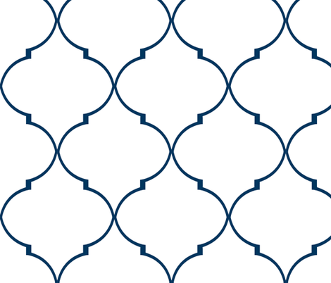 Kate Trellis in Classic Navy fabric by willowlanetextiles on Spoonflower - custom fabric