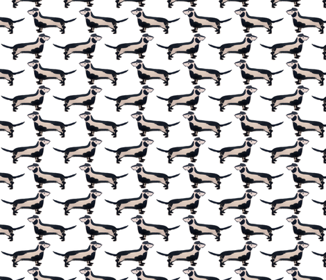 Dachshund in ink fabric by jenniferpitchers on Spoonflower - custom fabric