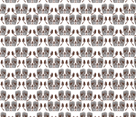 Squirrels and Acorns in Grey fabric by jenniferpitchers on Spoonflower - custom fabric