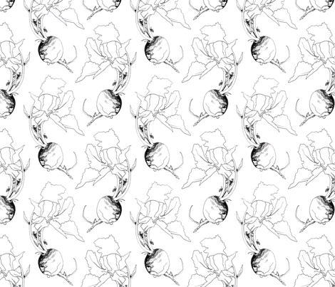 Turnips fabric by jenniferpitchers on Spoonflower - custom fabric