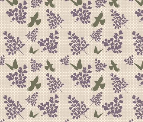 Birds and branches fabric by cine on Spoonflower - custom fabric