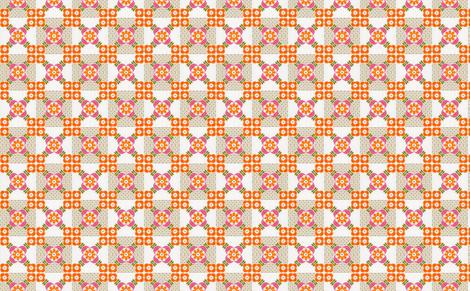 granny orange fabric by myracle on Spoonflower - custom fabric
