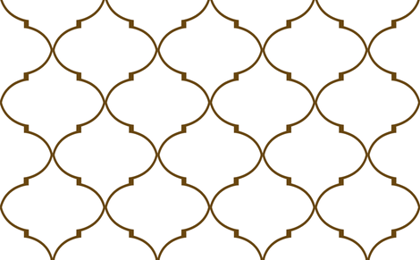 Kate Trellis in Chocolate fabric by willowlanetextiles on Spoonflower - custom fabric