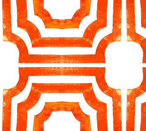 cestlaviv_lattice citrus x2 fabric by cest_la_viv on Spoonflower - custom fabric