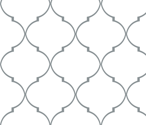 Kate Trellis in Cashmere Gray fabric by willowlanetextiles on Spoonflower - custom fabric