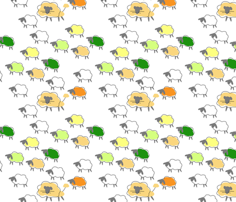 impossible herd fabric by mojiarts on Spoonflower - custom fabric