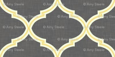 Kate Trellis in Citron & Charcoal Linen