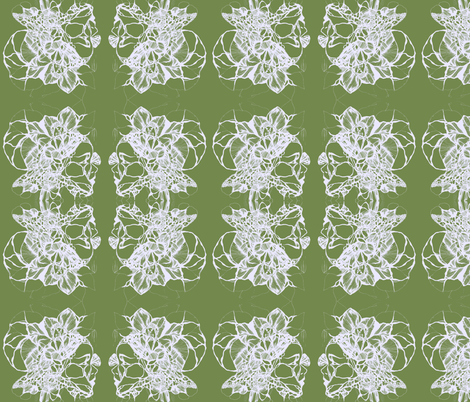 Carmen in Olive fabric by katharina~michaela on Spoonflower - custom fabric