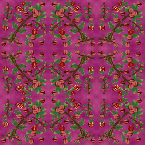 pomegranate_pink fabric by anino on Spoonflower - custom fabric
