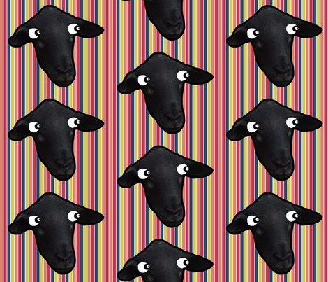 Can ewe see me now? fabric by anniedeb on Spoonflower - custom fabric