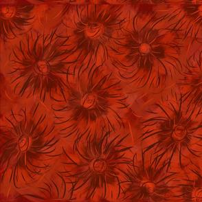 Flowers bermellon.