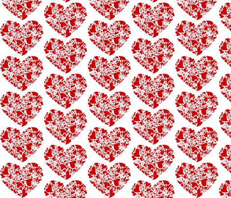 Valentine Hearts fabric by reganraff on Spoonflower - custom fabric