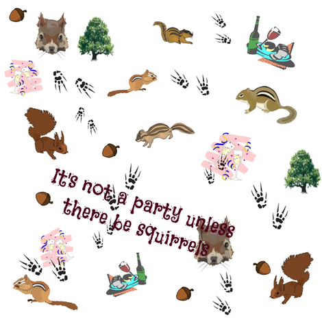 Squirrel Party fabric by ravynscache on Spoonflower - custom fabric