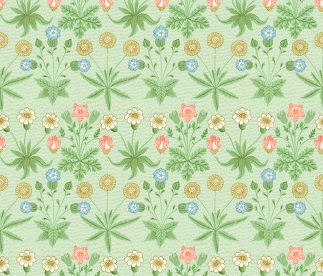 William Morris ~ Daisy ~ Original Colors fabric by peacoquettedesigns on Spoonflower - custom fabric