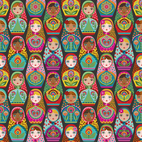Irina and Friends  fabric by groovity on Spoonflower - custom fabric
