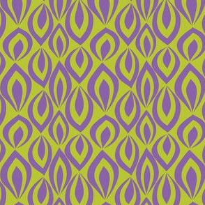 Leafyrific-purple on chartreuse