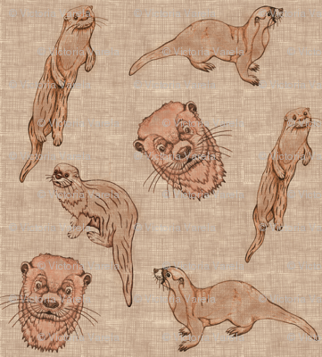 Huillin (linen, hand drawing)