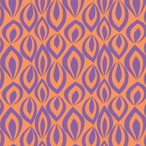 Leafyrific-purple on orange