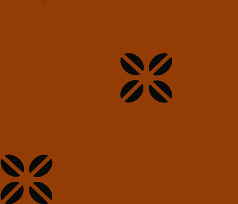 Kenya Cross Rust fabric by sheila's_corner on Spoonflower - custom fabric
