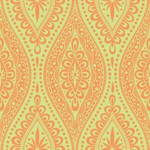Scallopy-orange on lime