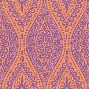 Scallopy-purple on orange