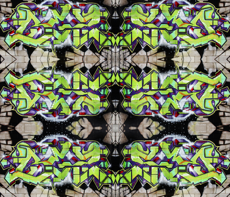 Graffiti Wall fabric by mikep on Spoonflower - custom fabric