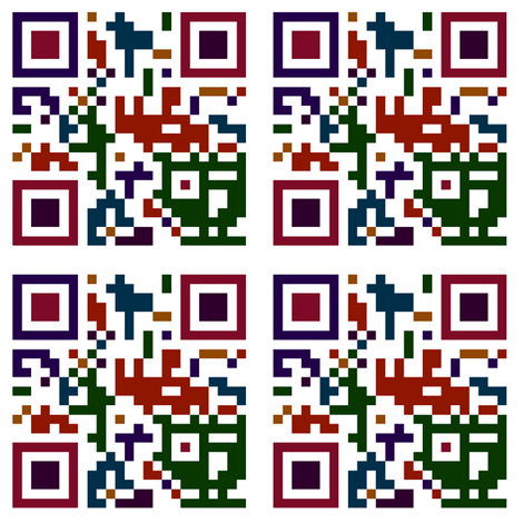 Colorful QR Code fabric by thecameronquinn on Spoonflower - custom fabric