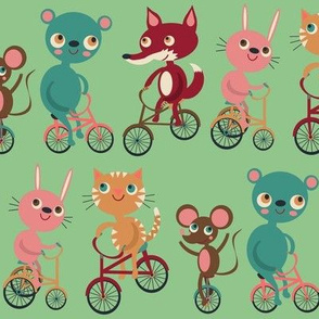 Animals On Bikes