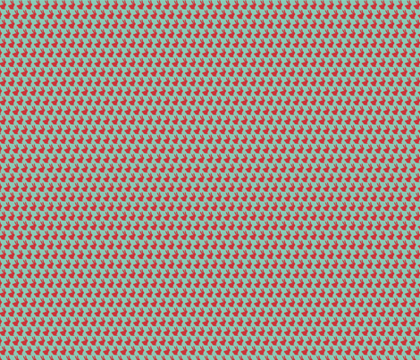 Mint and Red Bun Bun fabric by theten12 on Spoonflower - custom fabric