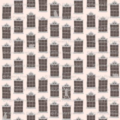 window cats - pink_stucco