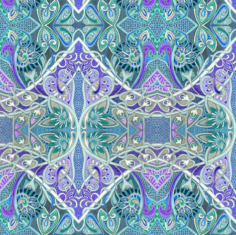 Paisley Make the Heart and Scallop and Dragon Scale Grow Fonder fabric by edsel2084 on Spoonflower - custom fabric
