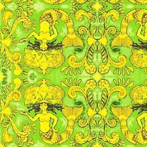 Grand Mermaids-green/gold
