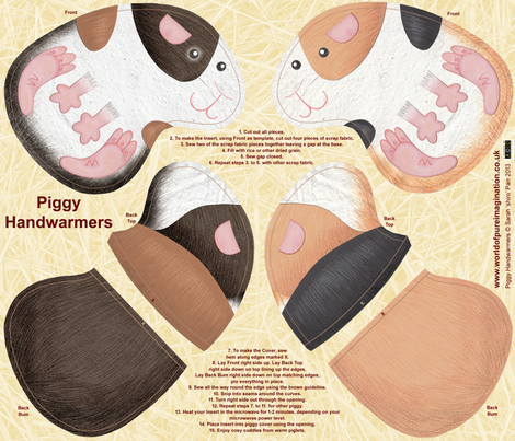 Guinea Pig Hand Warmers fabric by shiro on Spoonflower - custom fabric