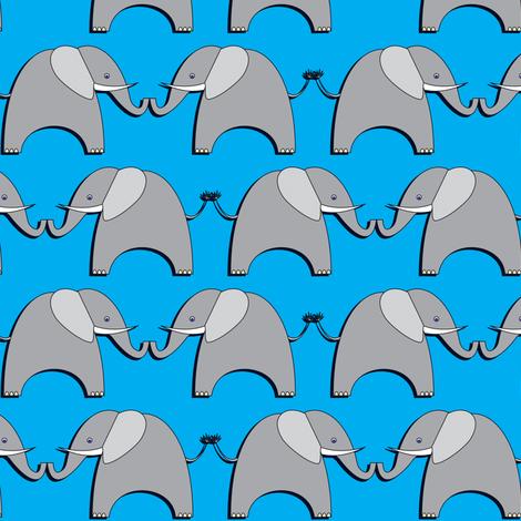Ellifriends - blue fabric by bippidiiboppidii on Spoonflower - custom fabric