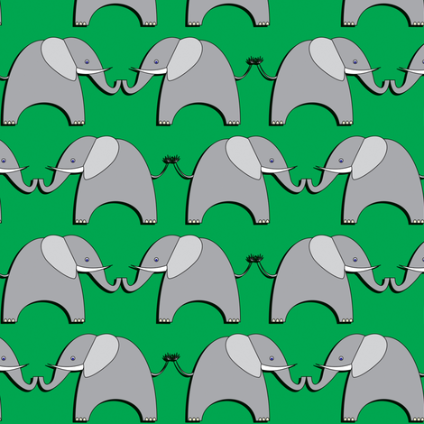 Ellifriends - green fabric by bippidiiboppidii on Spoonflower - custom fabric